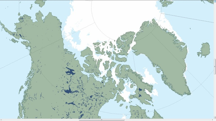Figure 4. The image above shows Arctic sea ice extent on August 16, 2015 from the Multisensor Analyzed Sea Ice Extent (MASIE) data product. Quelle: http://nsidc.org/arcticseaicenews/