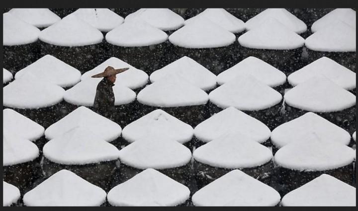 In Teilen Chinas wurden am Wochenend die niedrigsten Temperaturen seit Beginn der Wetteraufzeichnungen registriert. (Foto: REUTERS). Quelle: http://www.n-tv.de/panorama/Extreme-Kaeltewelle-laesst-Asien-bibbern-article16844886.html