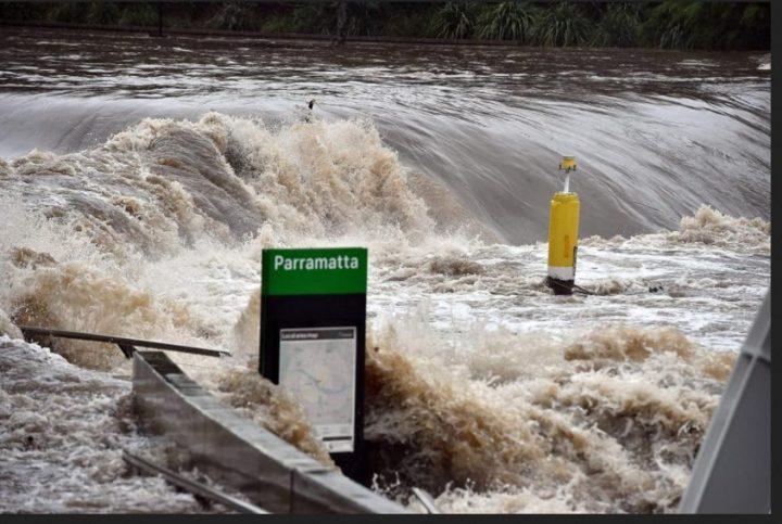 Bilder von Überschwemmungen in Australien im Juni 2016/AFP. Quelle: