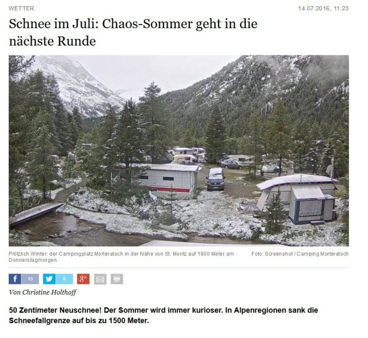 Quelle Berliner Morgenpost: Schnee im Juli: Chaos-Sommer geht in die nächste Runde