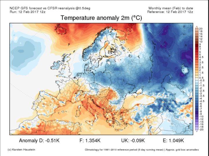 Renalyse TA 2m Europa 1. bis 12.2.2017: Unterkühlt