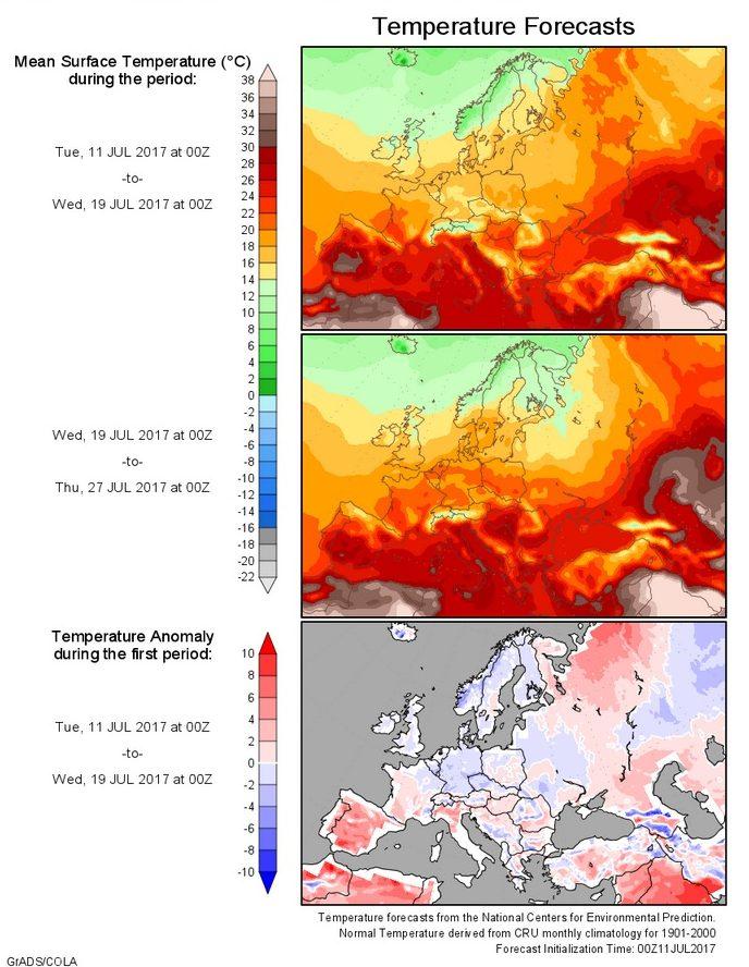 T-Prognose Europa 11. bis 27.7.2017
