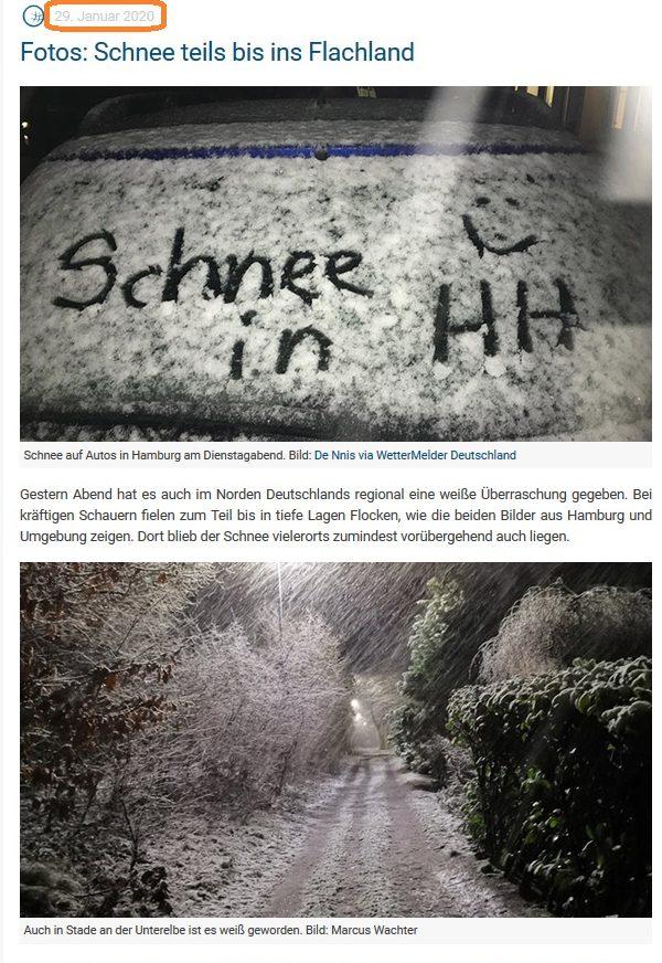Schnee in deutschland 2020